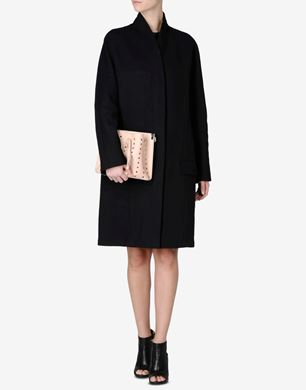 Maison Margiela Collarless cotton cocoon coat