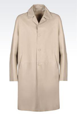 Armani Manteaux à un bouton Homme manteau de défilé en nappa