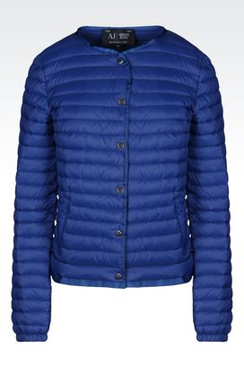 Armani Down coats Women ultra light down jacket in opaque nylon