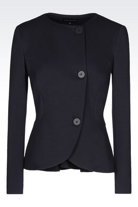 Armani Three buttons jackets Women jacket in milano rib