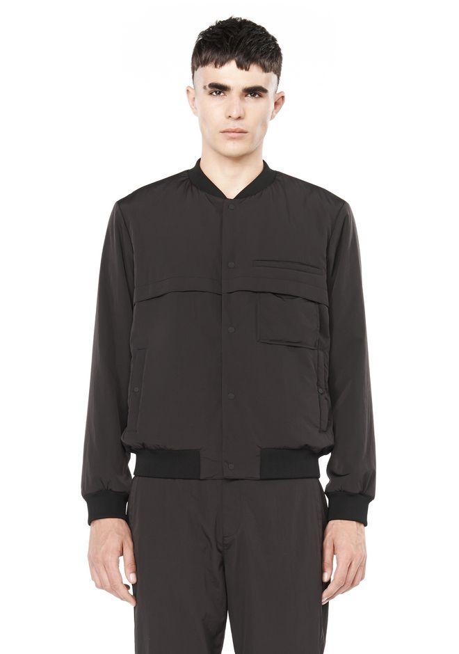 T by ALEXANDER WANG JACKETS AND OUTERWEAR  Men NYLON BOMBER JACKET