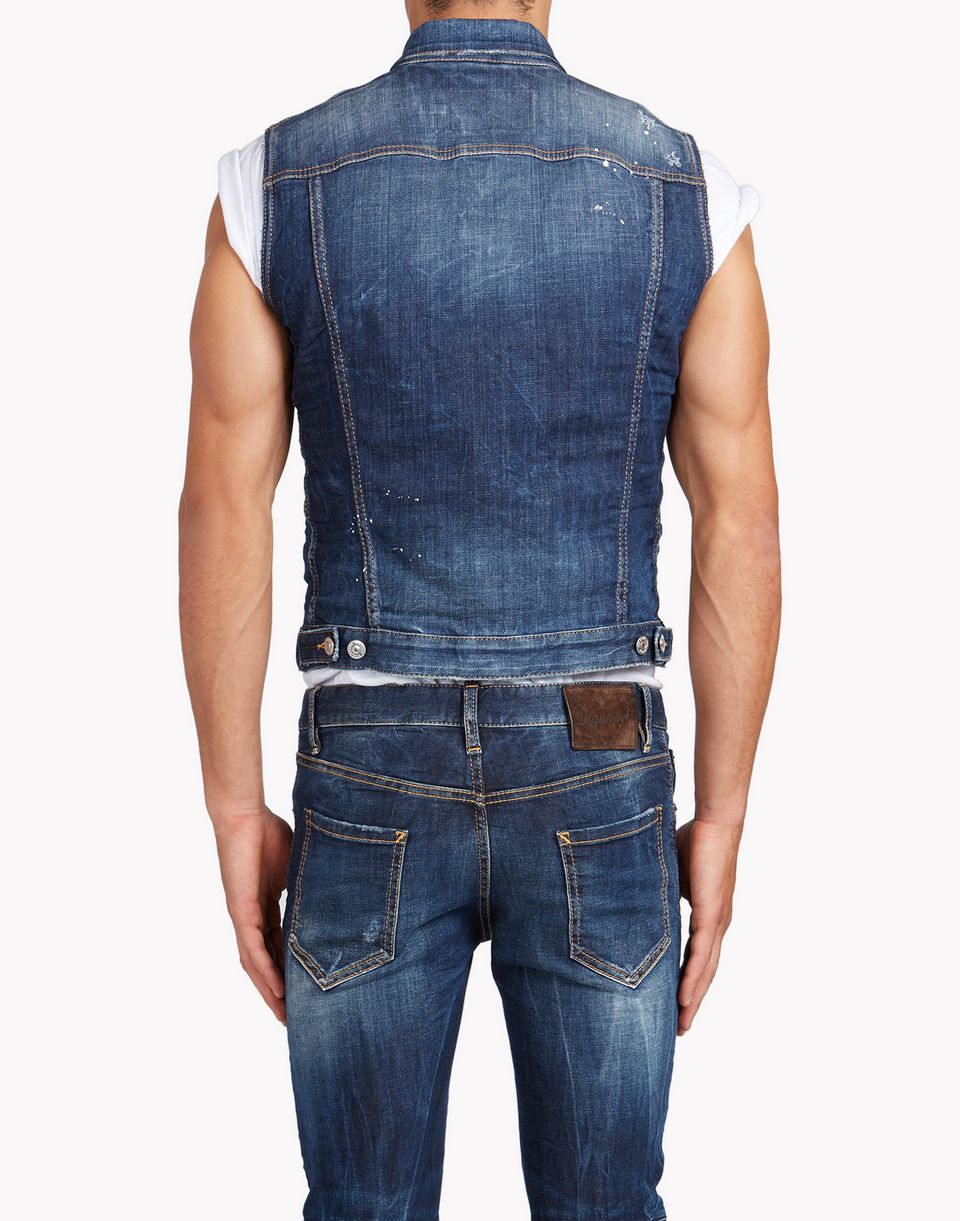 Dsquared2 Jean Vest Vests Men - Dsquared2 Online Store