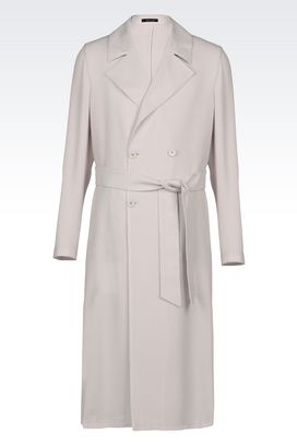 Armani Manteaux à deux boutons Homme manteau long en laine vierge