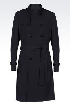 Armani Manteaux à deux boutons Homme trench-coat en tissu technique