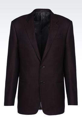 Armani Two buttons jackets Men comfort fit jacket in wool blend