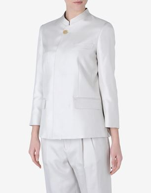 Maison Margiela Woven silk jacket with Mau collar