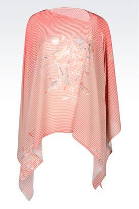 Armani Tops Women runway poncho in silk