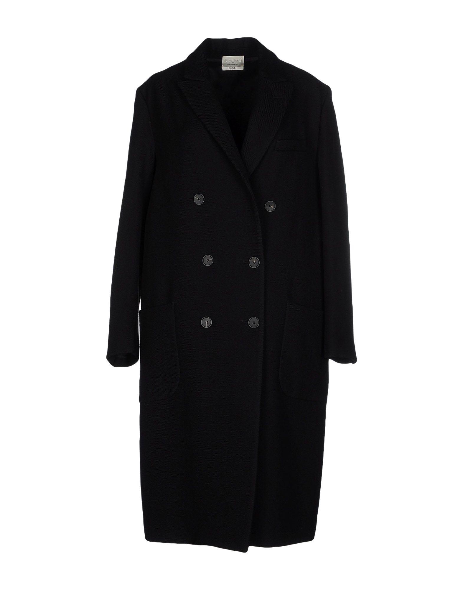Manteau long forte_forte femme. noir. 36 - 38 -...