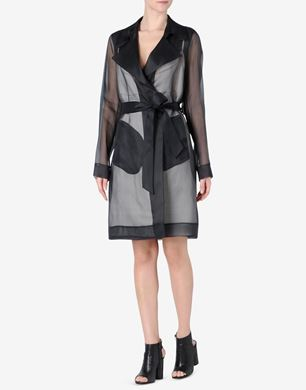 Maison Margiela Silk trench coat with 'slip' detail