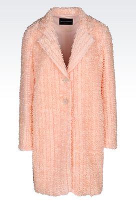 Armani Manteaux à un bouton Femme manteau de défilé en tulle