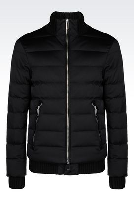 Armani Down coats Men down jacket in technical fabric
