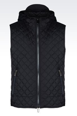 Armani Padded gilets Men down gilet with hood