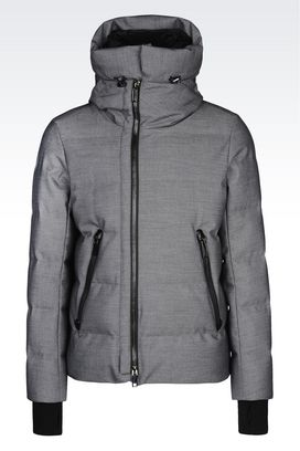 Armani Down coats Men down jacket in nylon with removable hood