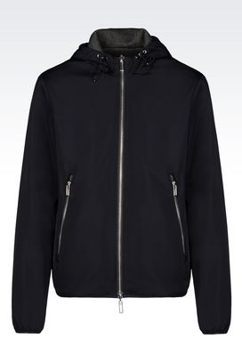Armani Blouson jacket Men reversible bomber with hood