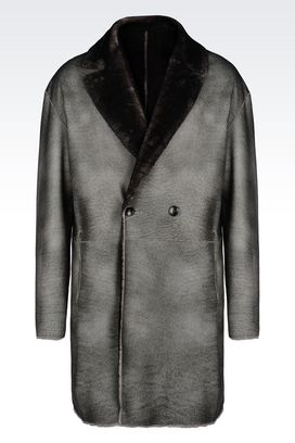 Armani Coats Men reversible coat in sheepskin