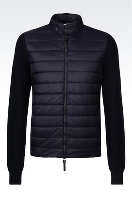 Armani Blouson jacket Men blouson in nylon and knit
