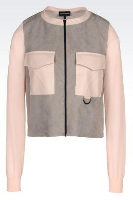 Armani Blouson jacket Donna blouson in alcantara®