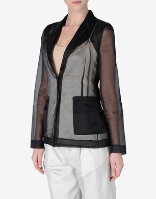 Maison Margiela Silk jacket with 'lingerie' detail