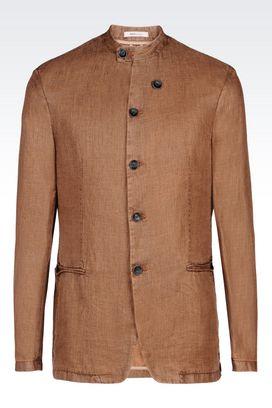 Armani Dinner jackets Men slim fit jacket in linen