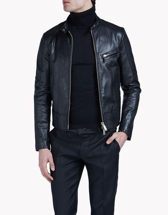 leather biker coats & jackets Man Dsquared2
