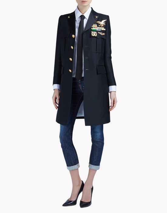 chesty candy cigarette coat coats & jackets Woman Dsquared2