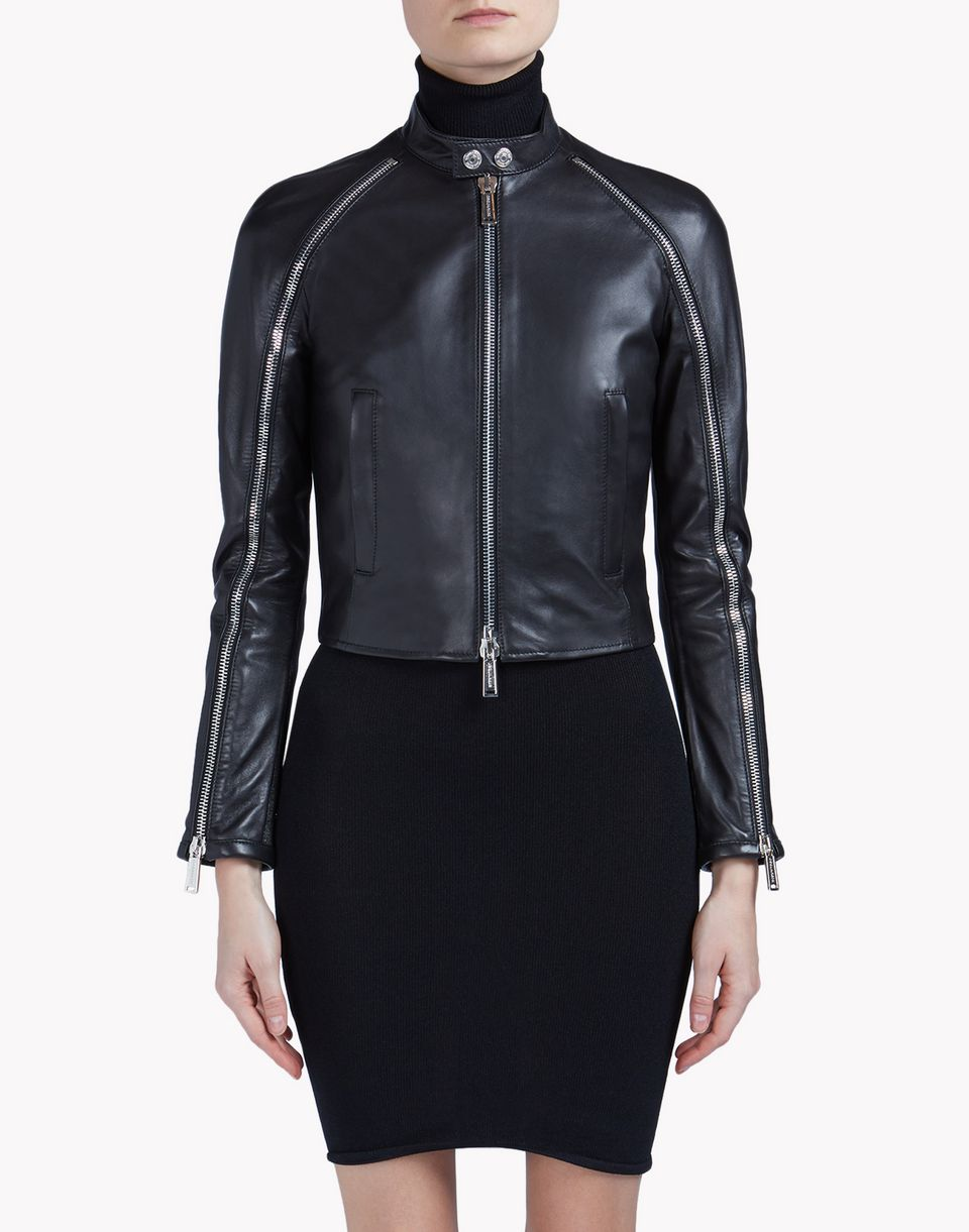 lone star leather jacket mäntel & jacken Damen Dsquared2