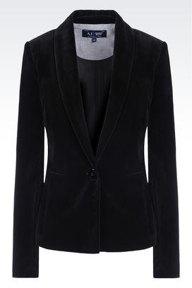 Armani One button jackets Women slim fit velvet jacket