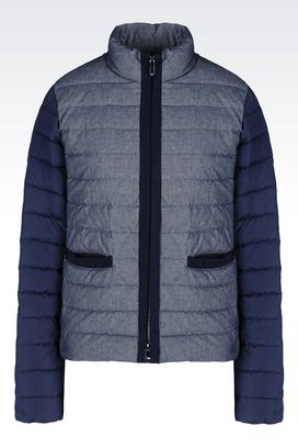 Armani Down coats Women down jacket in chambray