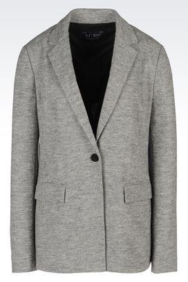 Armani One button jackets Women jacket in interlock