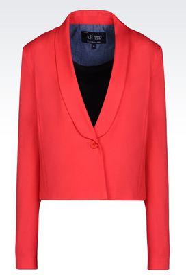 Armani Vestes à un bouton Femme veste en tissu sablé