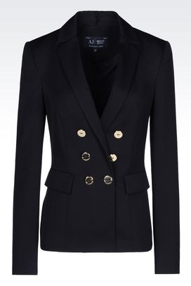 Armani Double-breasted jackets Women jacket in twill