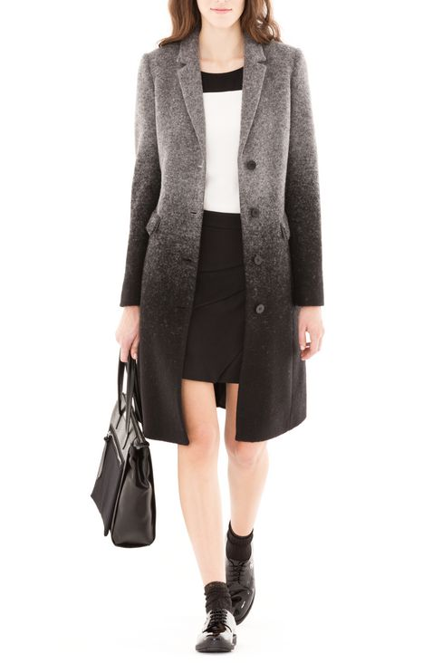 COAT IN BOILED WOOL: Single-breasted coats Women by Armani - 2