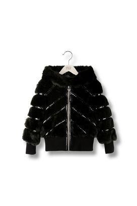 Armani Short-length jackets Women faux fur hooded jacket