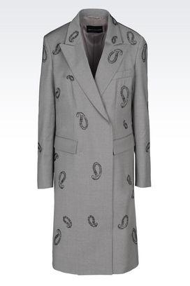 Armani Manteaux à deux boutons Femme manteau de défilé en laine vierge