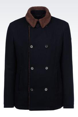 Armani Dust jackets Men blouson in wool blend