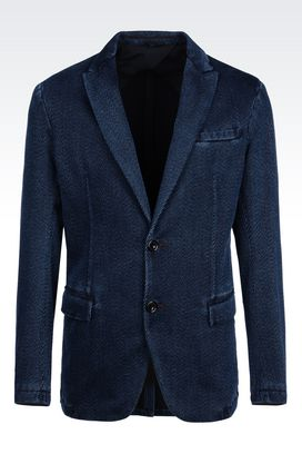 Armani Two buttons jackets Men jacket in cotton drill