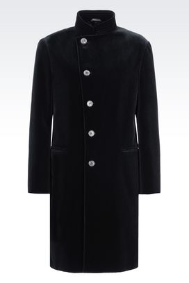 Armani Single-breasted coats Men velvet coat
