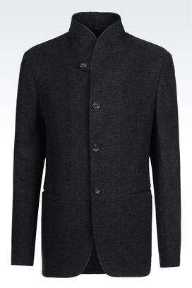 Armani Dinner jackets Men deconstructed wool jacket