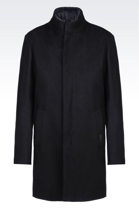Manteau laine retournee homme