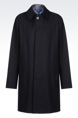 Armani Single-breasted coats Men coat in virgin wool