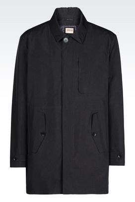 Armani Dust jackets Men pea coat in technical fabric