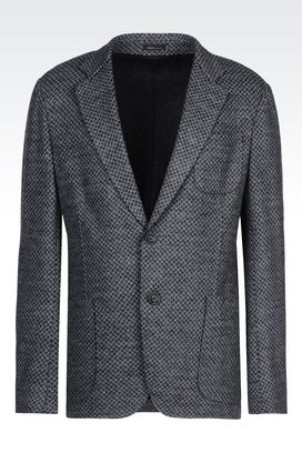Armani Two button jackets Men deconstructed jacket in jersey