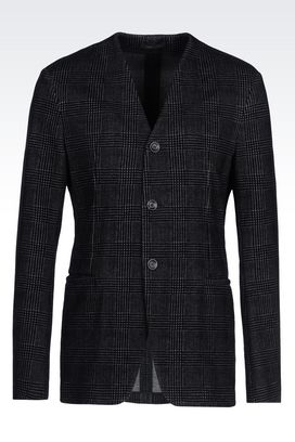 Armani Three buttons jackets Men deconstructed jacket in jersey