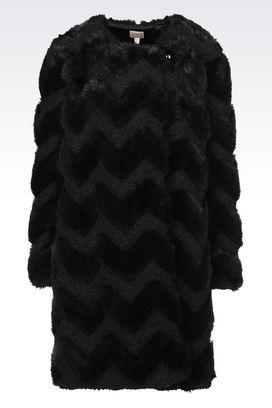 Armani Cappotti Monopetto Donna cappotto con motivo chevron