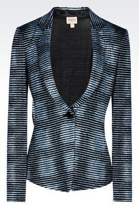Armani One button jackets Women jacket in glitter print jersey