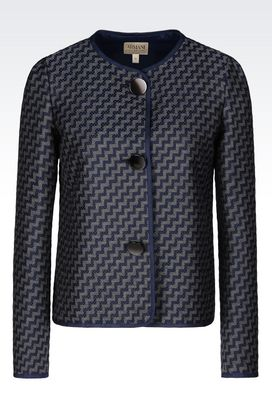 Armani Three buttons jackets Women jacket in jacquard