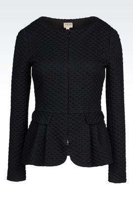 Armani Dinner jackets Women jacket in matelassé jersey