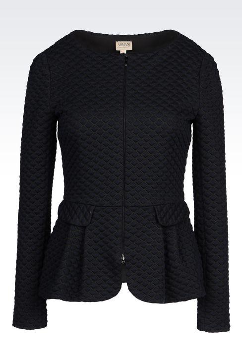 JACKET IN MATELASSÉ JERSEY: Dinner jackets Women by Armani - 1