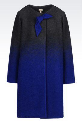 Armani Cappotti Monopetto Donna cappotto in lana cotta