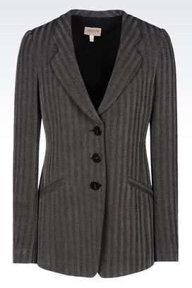 Armani Three buttons jackets Women jacket in chevron viscose